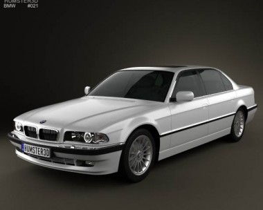 3D model of BMW 7 series long e38 1998