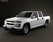 3D model of Chevrolet Colorado Crew Cab 2012