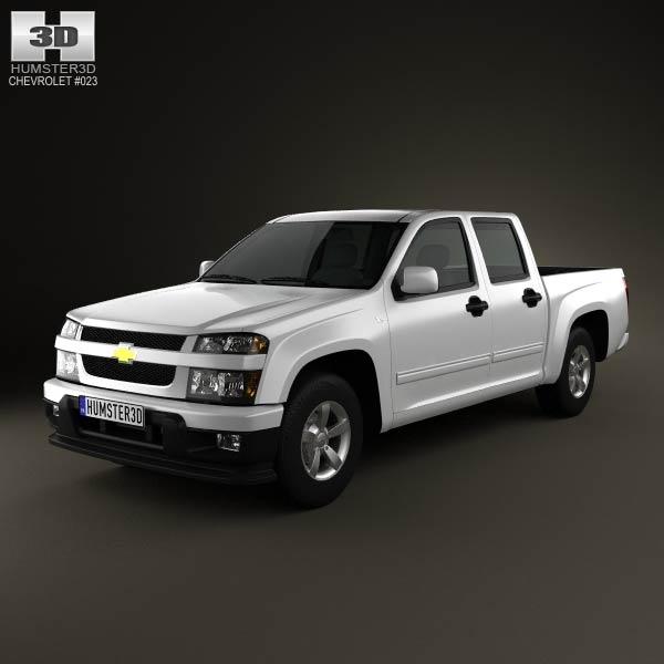 Chevrolet Colorado Crew Cab 2012 3d car model