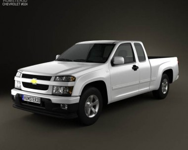 3D model of Chevrolet Colorado Extended Cab 2012