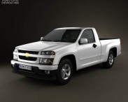 3D model of Chevrolet Colorado Regular Cab 2012