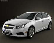3D model of Chevrolet Cruze (J300) hatchback 2012