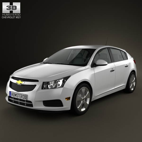 Chevrolet Cruze (J300) hatchback 2012 3d car model