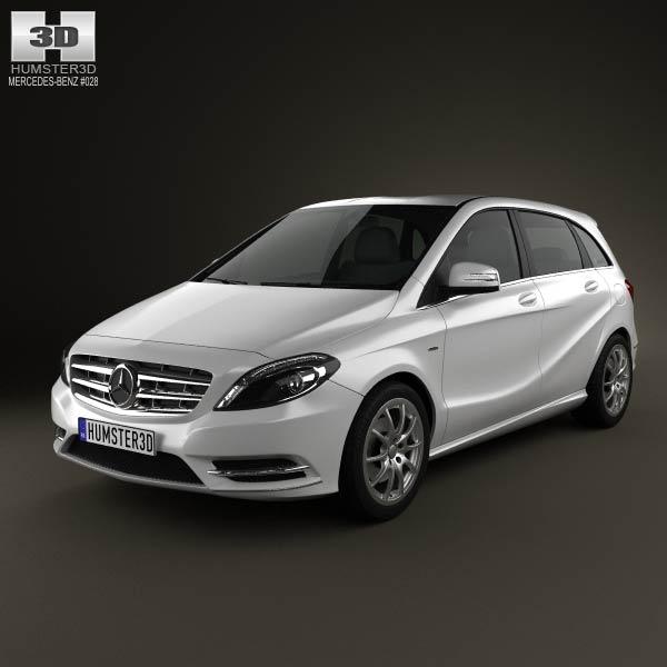 Mercedes benz b class 2012 3d model humster3d for Mercedes benz 2012 models