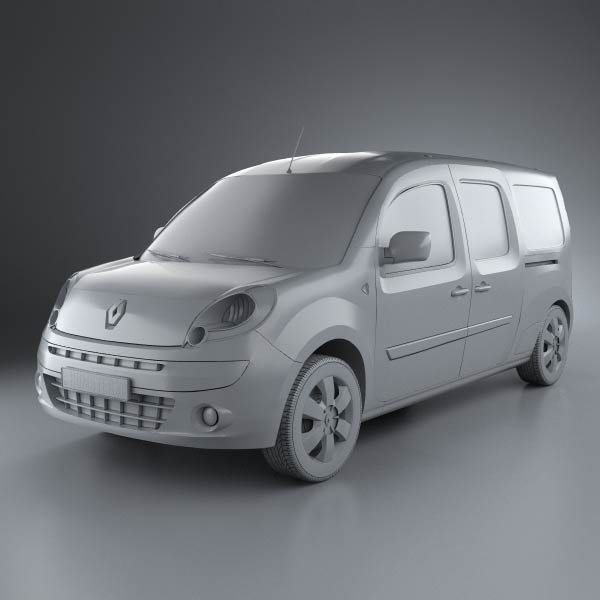 renault kangoo maxi 2011 3d model humster3d. Black Bedroom Furniture Sets. Home Design Ideas