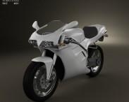 3D model of Ducati 748 Sport Bike