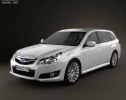 3D model of Subaru Legacy tourer 2010