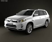 3D model of Toyota Highlander (Kluger) Hybrid 2011