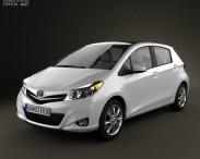 3D model of Toyota Yaris (Vitz) 5door 2012