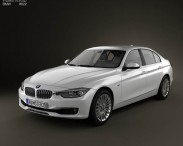 3D model of BMW 3 Series Sedan 2012