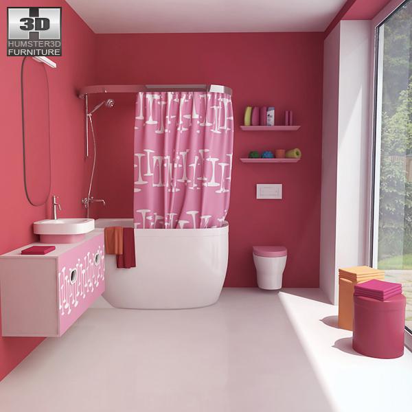 Bathroom 07 set 3d model humster3d for 3d bathroom models