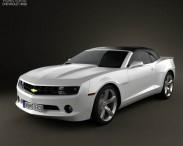 3D model of Chevrolet Camaro 2LT RS Convertible 2011