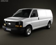 3D model of Chevrolet Express Panel Van 2003