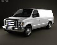 3D model of Ford E-series Van 2011