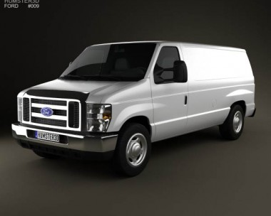 3D model of Ford E-series Van 2011