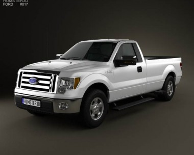 3D model of Ford F-150 XLT Regular Cab 8-foot Box 2011