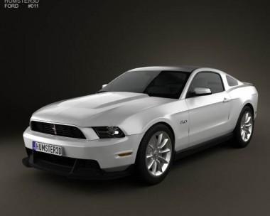 3D model of Ford Mustang Boss 302 2012