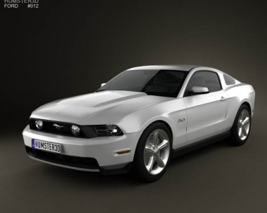 3D model of Ford Mustang GT 2012
