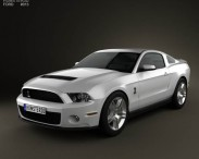 3D model of Ford Mustang Shelby GT500 2012