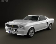 3D model of Ford Mustang Shelby GT500 Eleanor 1967