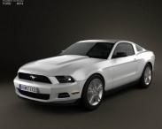 3D model of Ford Mustang V6 2012