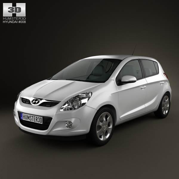3D model of Hyundai i20 5-door 2010