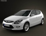 3D model of Hyundai i30 2011