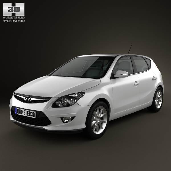 3D model of Hyundai i30 2011