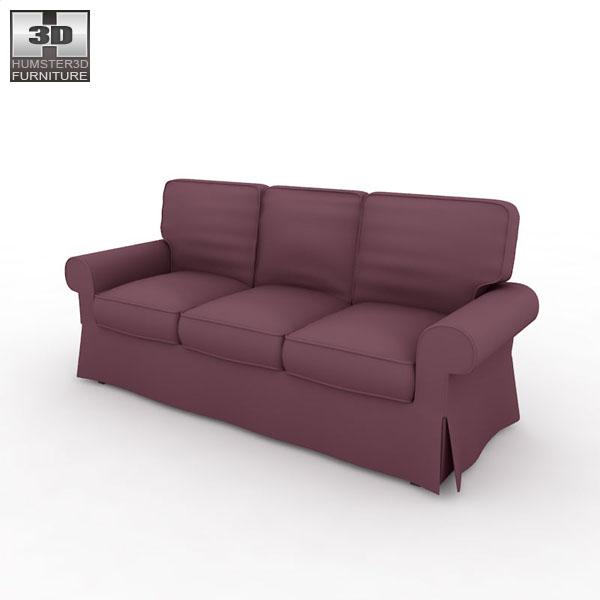 IKEA EKTORP Sofa 3D model - Humster3D