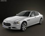 3D model of Maserati Quattroporte 2011