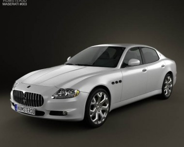 3D model of Maserati Quattroporte 2011