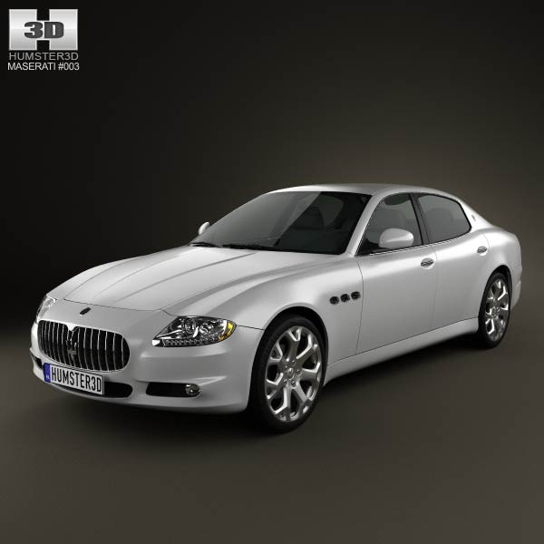 Maserati Quattroporte 2011 3d car model