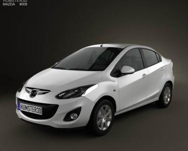 3D model of Mazda 2 Sedan 2011