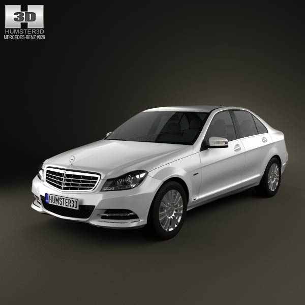 Mercedes-Benz C-class sedan 2012 3d car model