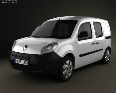 Renault Kangoo Van 2 Side Doors Glazed 2011 3d car model