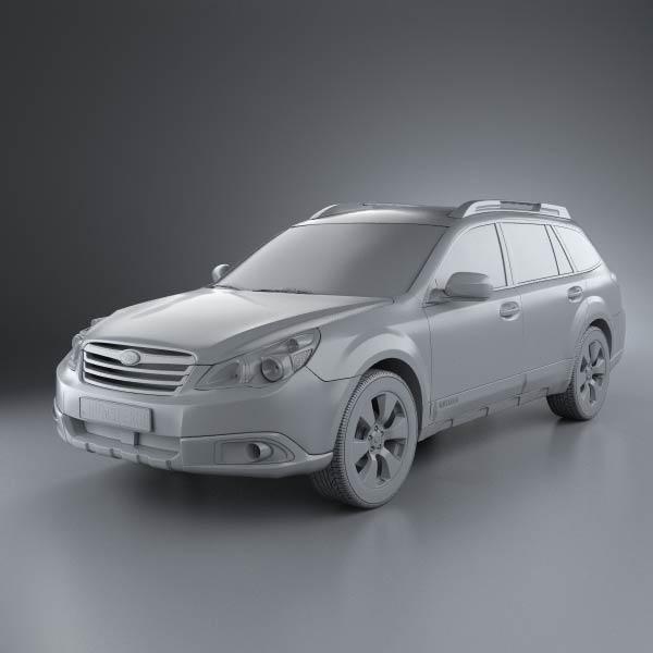 subaru outback us 2011 3d model humster3d. Black Bedroom Furniture Sets. Home Design Ideas
