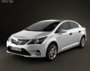 3D model of Toyota Avensis Sedan 2012