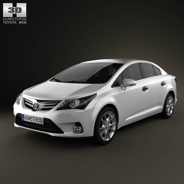 Toyota Avensis Sedan 2012 3d car model
