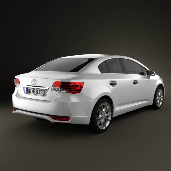 Toyota Avensis Sedan 2012 3d Model Humster3d