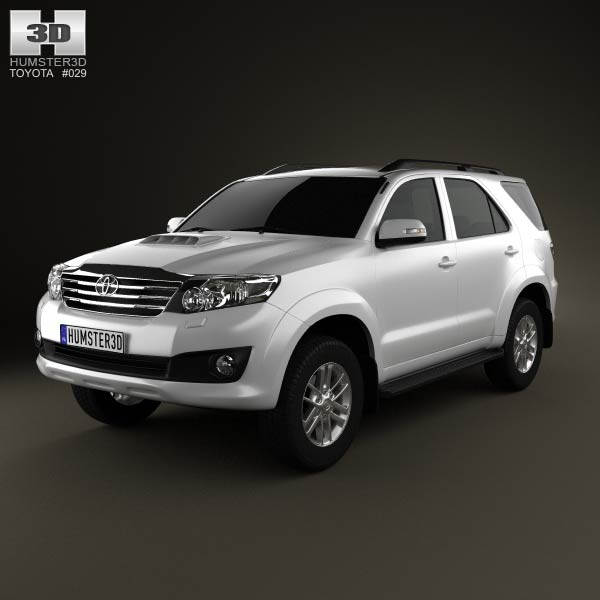 Toyota Fortuner 2012 3d car model