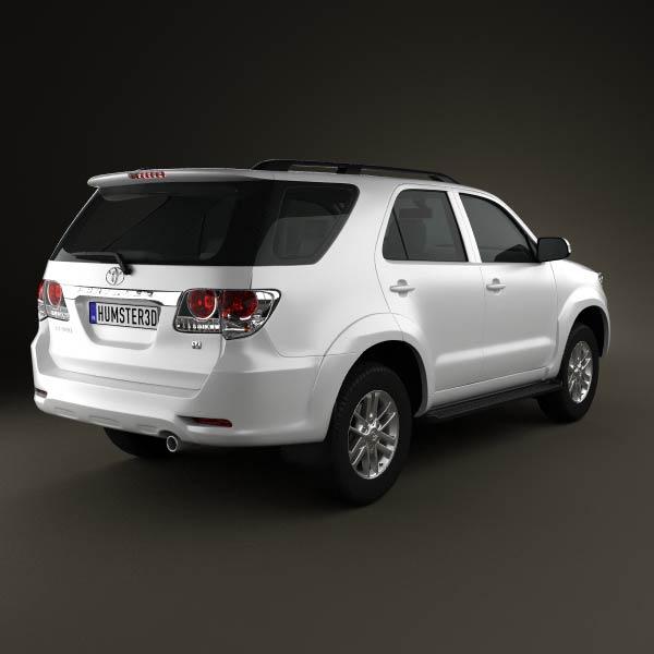 Toyota Fortuner 2012 3d model