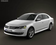 3D model of Volkswagen Passat US 2012