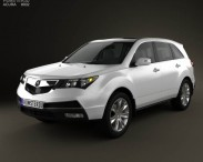 3D model of Acura MDX 2011
