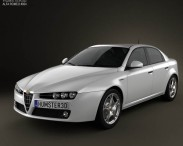 3D model of Alfa Romeo 159 sedan 2009