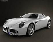 3D model of Alfa Romeo 8C Competizione 2007