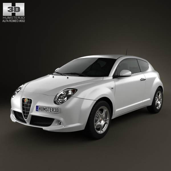 3D model of Alfa Romeo MiTo 2009