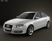 3D model of Audi A4 Saloon 2005