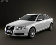 3D model of Audi A6 Saloon 2005