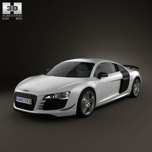 Audi R8 GT 2011 3d car model