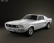 3D model of Ford Mustang GT 1967